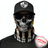 Bandana/Face Shield/Cagula/Esarfa - Tribal Skull , SA Co. original