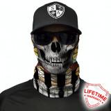 Bandana/Face Shield/Cagula/Esarfa - Tribal Skull , made in USA, Din imagine