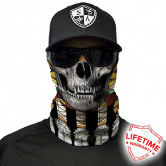 Bandana/Face Shield/Cagula/Esarfa - Tribal Skull , made in USA