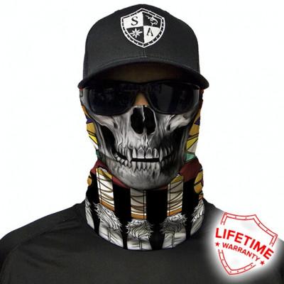 Bandana/Face Shield/Cagula/Esarfa - Tribal Skull , made in USA foto