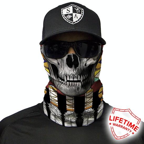Bandana/Face Shield/Cagula/Esarfa - Tribal Skull , made in USA