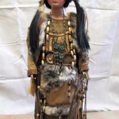 64 cm Păpușă ceramică - Indiancă, hand made Hamburg