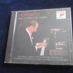 Horowitz - Discovered Treasures _ cd _ Sony ( SUA , 1992 ) _ sigilat, sony music