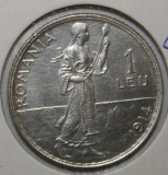 OKAZIE !!! 1 LEU 1914 . UNC ., Argint