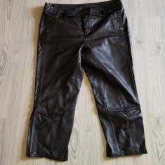 Pantaloni italieni superbi din piele, capri, M