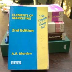 Elements of marketing - A.R. Morden (elemente de marketing)
