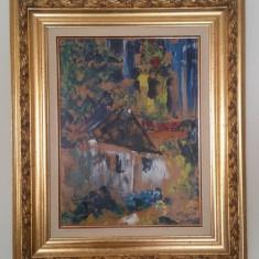 Casa in padure (Haus im Wald) - Albert Feser, Peisaje, Ulei, Altul