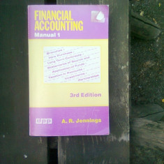 Financial accounting - A.R. Jennings (Contabilitate financiara) Manual 1