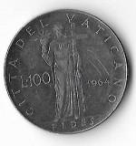Moneda 100 lire 1964 - Vatican, Europa