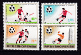 Albania 1981  sport  fotbal MI 2080-83  MNH w53, Nestampilat