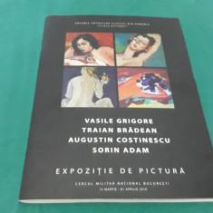 ALBUM EXPOZIȚIE DE PICTURĂ VASILE GRIGORE, TRAIAN BRĂDEAN/DEDICAȚIE ȘI AUTOGRAF