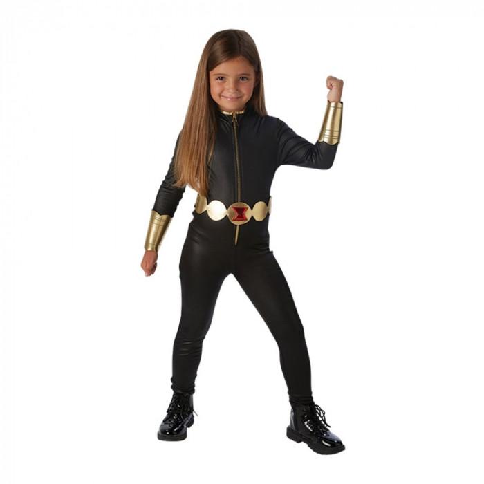 Costum Black Widow fetite 3-4 ani - Carnaval24