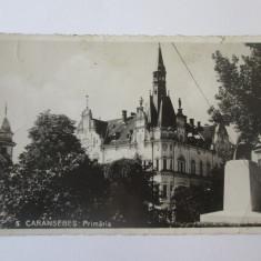 Carte postala foto Caransebes-Primaria,circulata 1945