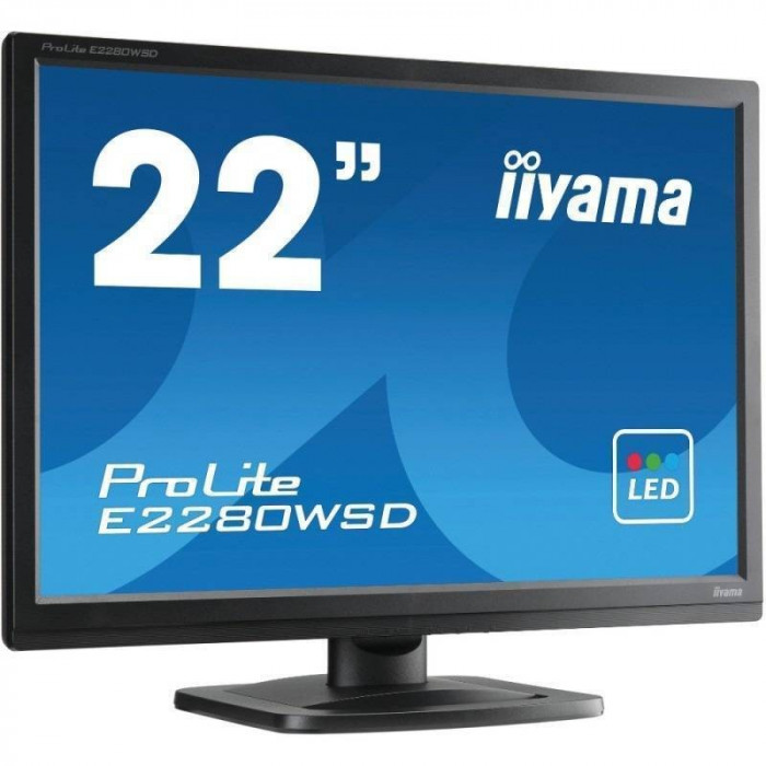 Monitor LED Iiyama ProLite E2280WSD-B1 22 inch 5 ms Black