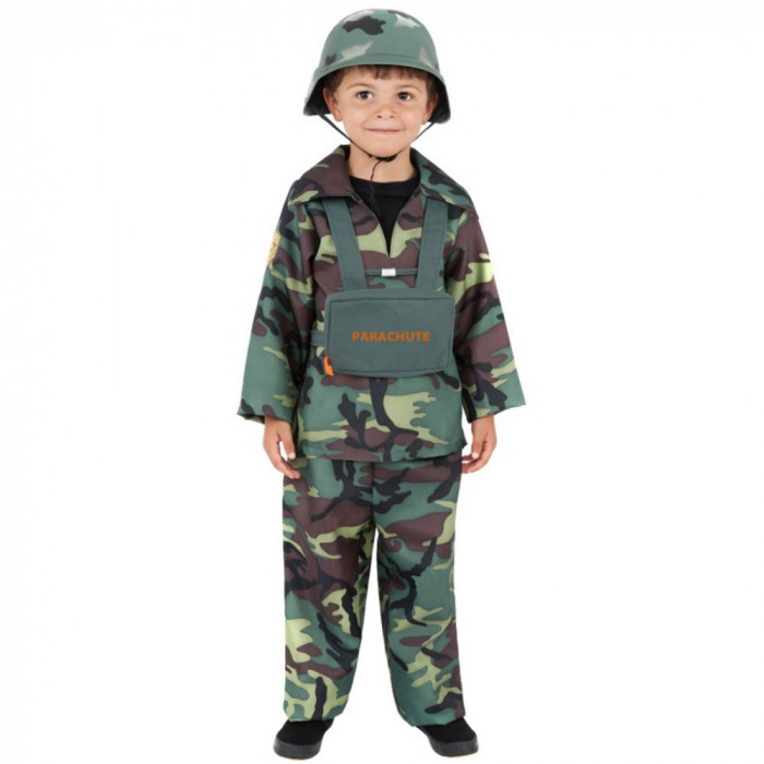 Costum Soldat Parasutist baieti 7-9 ani - Carnaval24