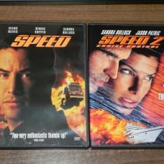 Lot 2 DVD  Speed 1 si 2 original USA Tom Cruise, Dennis Hooper, Sandra Bullock, Engleza