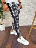 Pantaloni de trening pentru barbati in carouri - PREMIUM - NEGRI - A2775 96-5, Din imagine