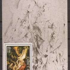 S. TOME E PRINCIPE 1983 PICTURA RUBENS (colita dantelata) MNH