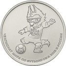 Rusia 25 Rubles 2018 -  ( FIFA World Cup Russia - Mascot) 27 mm, KM-New UNC !!!, Europa