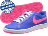 Pantofi sport Nike Court Majestic pentru femei - adidasi originali - piele, 36, Albastru, Piele naturala