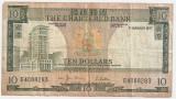 Hong Kong 10 Dollars DOLARI 1977 VF