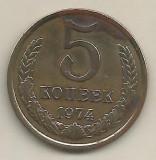 RUSIA  URSS  5  KOPEICI  COPEICI  KOPEEK  1974 [2]    livrare in cartonas