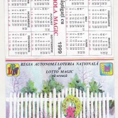 Bnk cld Calendar de buzunar 1999 - Loteria Nationala