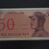 BANCNOTA INDONESIA-50 SEN-1964-NECIRCULATA