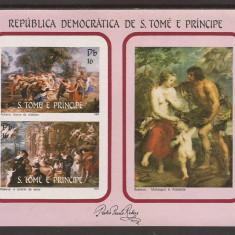 S. TOME E PRINCIPE 1983 PICTURA RUBENS (colita nedantelata) MNH