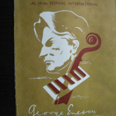 Program - Festival George Enescu, 22 septembrie 1981