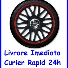 Set Capace auto Roti 15 `` J-Tec Gorecki Orden Red Black
