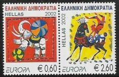 Europa-cept 2002 - Grecia 2v.neuzat,perfecta stare(z) foto