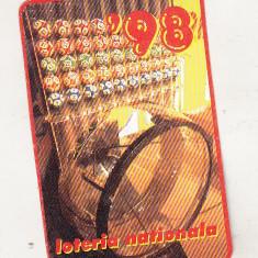 Bnk cld Calendar de buzunar 1998 - Loteria Nationala