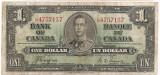 Canada 1 Dollar Dolar 1937 VF