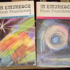 RWX 29 - POEZII - PROZA LITERARA - MIHAI EMINESCU - VOLUMUL I SI II - ED 1984