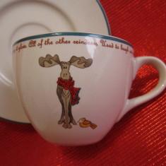 SET CEASCA CU FARFURIE PORTELAN ENGLEZESC BUTLERS DECOR CU RENUL RUDOLPH