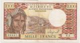 DJIBOUTI 1000 FRANCS FRANCI 1988 VF