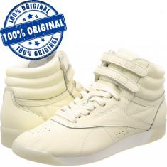 Pantofi sport Reebok Freestyle Hi pentru femei - adidasi originali - piele