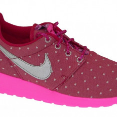 Pantofi sport Nike Rosherun Print Gs 677784-606 pentru Copii, 38, 38.5, Roz
