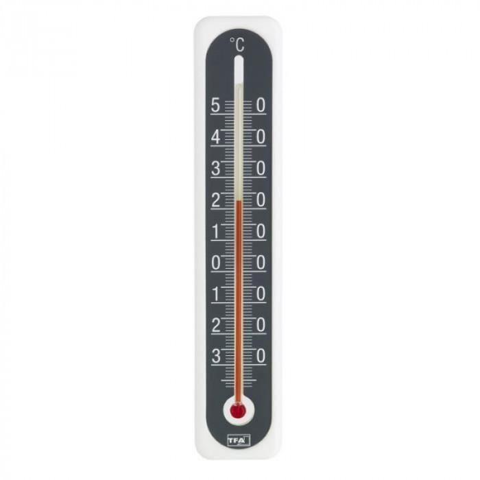 Termometru interior/exterior cu lichid TFA, alcool etilic