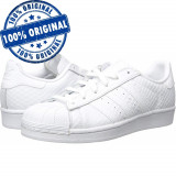 Pantofi sport Adidas Originals Superstar pentru femei - adidasi originali -piele, 36 2/3, 38, Alb, Piele naturala