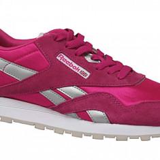 Pantofi sport Reebok Cl Nylon BD1287 pentru Copii, 34.5, 36, 36.5, 37, 38, Roz