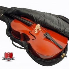 Set violoncel marime 4/4 3/4 1/2 1/4 1/8 Nou arcus + husa avansati/incepatori