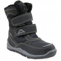 Pantofi de iarna Kappa Tundra Tex K 260484K-1111 pentru Copii, 28, 31, 32, 34, Negru
