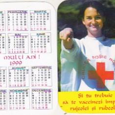 Bnk cld Calendar de buzunar 1999 - Crucea Rosie