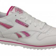 Pantofi sport Reebok CL Lthr Ripple III V59227 pentru Copii, 34.5, 36, 37, Alb