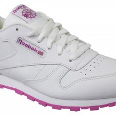 Pantofi sport Reebok Classic Leather BS8044 pentru Copii, 34.5, 35, 36, 36.5, 37, 38, Alb