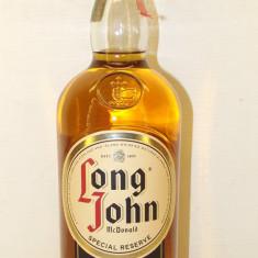 LONG JOHN, finest scotch wisky, SPECIAL RESERVE MACDONALD  cl.70 gr.40 ani 90