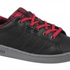 Pantofi sport K-Swiss Hoke Plaid 85111-050 pentru Copii, 35.5, 36, 37, 37.5, 38, 39, Negru