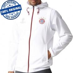 Jacheta Adidas FC Bayern Munchen pentru barbati - bluza originala, S, Cu fermoar, Poliester